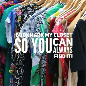 Other - Bookmark My Closet to Find It Again Later!